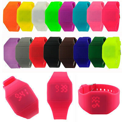Pop Cool Latest Digital LED Touch Screen Sports Silicone Bracelet Wrist Watch