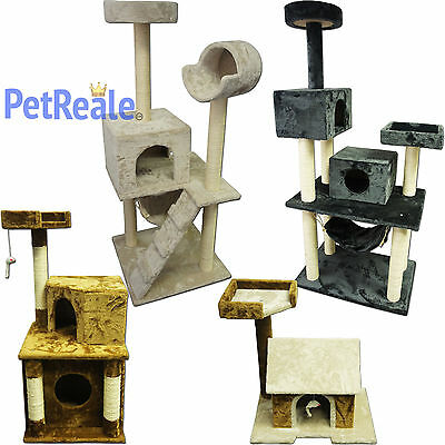 Cat Tree Pet Furniture Condo House Scratch Post Kitten Bed Tower Hammock Perch