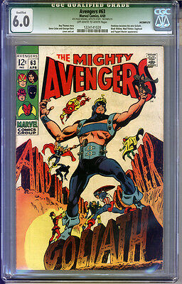Avengers #63 CGC 6.0 FN Qualified CGC #1224141028 INCOMPLETE