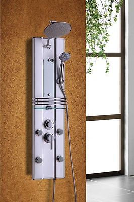 "41"" SHOWER PANEL BATHROOM ALUMINUM 4 JETS  RAIN HEAD WITH SPROUT - brand new"