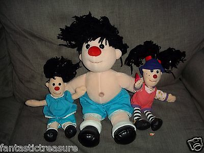 RARE PLUSH DOLL FIGURES TWO MOLLY'S & LOONETTE BIG COMFY COUCH CLOCK RUG STRETCH