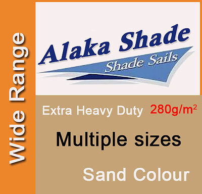 Extra Heavy Duty Shade Sail Sand Sun Canopy Outdoor Triangle Square Rectangle