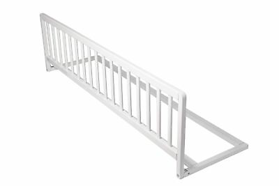 Safetots Kids Wooden Extra Wide Bed Rail Toddler Bed Guard White Wood