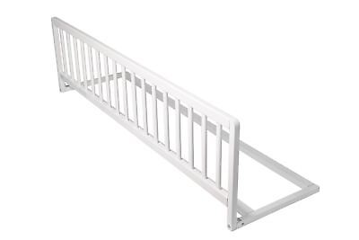 Safetots Wooden Extra Wide Baby Toddler White Bed Guard - Bed Rail for Nursery