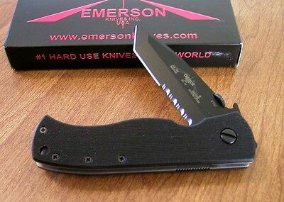 EMERSON New CQC7 Black Part Serrated 154CM Tanto Blade With Wave Knife/Knives