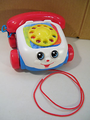 Nwob Fisher Price Classic Chatter Telephone Pull Toy 2012, New