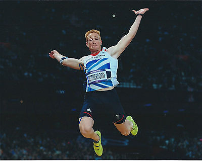Greg RUTHERFORD Autograph Signed 10x8 Photo AFTAL COA Olympic Long Jump Gold