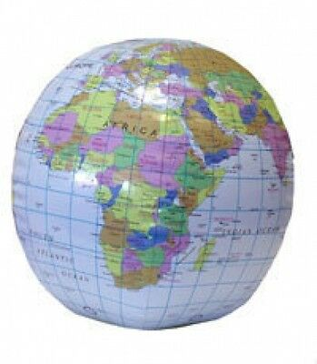 1 inflatable world globe beach balls,party bag filler,pass the parcel prize.