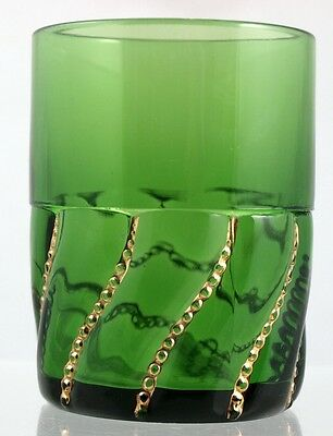 EAPG - Duncan's Beaded Swirl - Tumbler - Emerald Green and gold