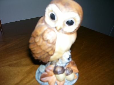 Decorative Owl Figurine Andrea by Sadek #6350 with Stand