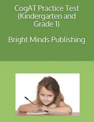 Cogat Practice Test Kindergarten And Grade 1 By Bright Minds