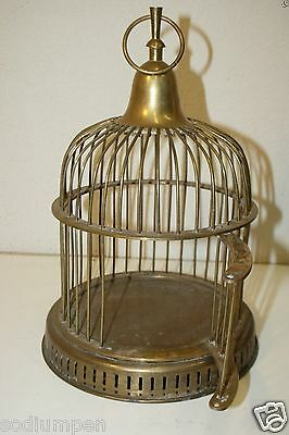 Beautiful Vintage Solid Brass High End Rare 12 Inch Hanging Bird Cage Birdcage