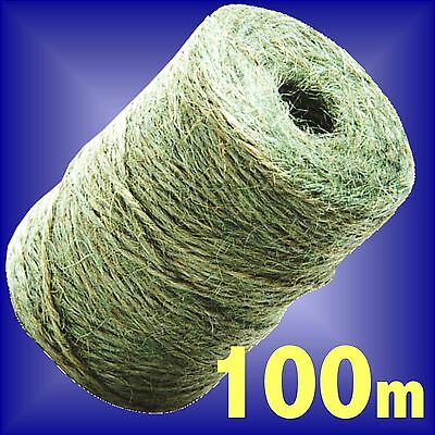 Garden Twine 100m jute ball of string tie back plant ties line