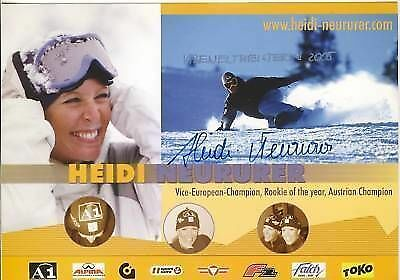 Heidi Neururer TOP AK Orig. Sign. +G 2609