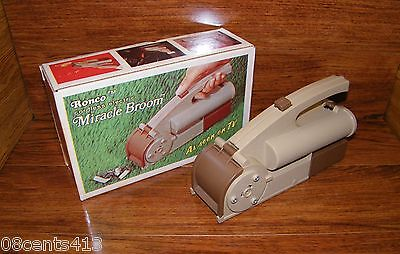 Vintage Ronco Cordless Battery Operated Electric Miracle Broom Handheld Vacuum