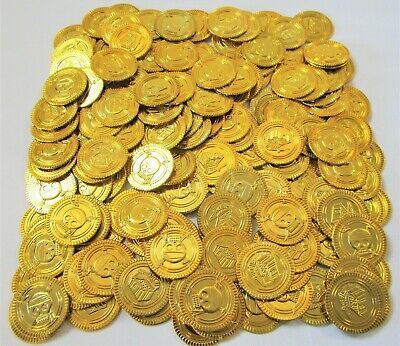 Pack of 150 Plastic Pirate Treasure Coins - Party Bag Fillers / Toys / Favours