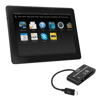 kwmobile 3 In 1 Micro Usb 2.0 Card Reader für Amazon Kindle Fire Hd 7 2014 Sd