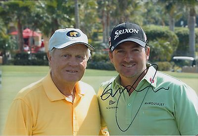 Graeme McDOWELL with Jack NICKLAUS SIGNED AUTOGRAPH Golf Photo AFTAL COA RARE