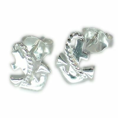 Anchor with Rope sterling silver stud earrings .925 x 1 pair studs CER6907