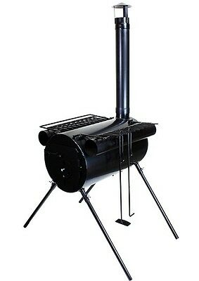 Portable Military Camping Steel Wood Stove Tent Heater Ice-Fishing Camp Cooking