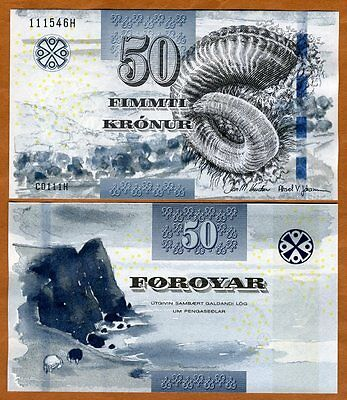 Faeroe Islands, 50 Kronur, 2011 (2012), P-29 UNC > new signature and security
