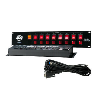 American DJ SC-8 II System 8-Channel Switch Controller with Relay Pack
