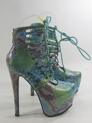 Privileged Rainbow Multi Iridescent Platform Stiletto Heel Shoe Size 6.5 /& 7