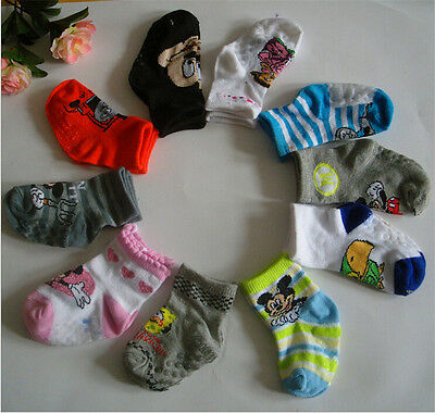3Pcs Newborn Cartoon Baby Kids Infant Thin Soft Sock Striped Novelty