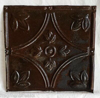 "8"" x 8.5"" Antique Tin Ceiling Tiles*SEE OUR SALVAGE VIDEOS* Vintage Rust TL8"