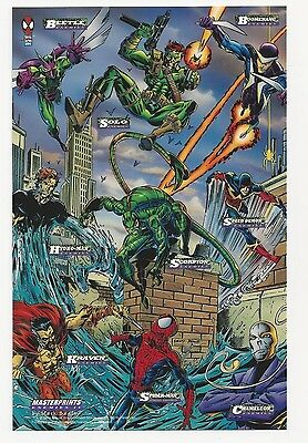 "1994 Marvel ""Spider-Man"" Masterprints Enemies IV Print Card by Mark Bagley"