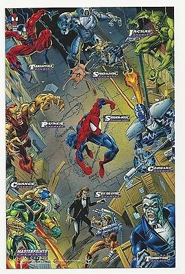 "1994 Marvel ""Spider-Man"" Masterprints Enemies I Print Card by Mark Bagley"