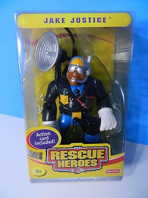 Fisher Price 2004 RESCUE HEROES COLLECTIBLE JAKE JUSTICE Special Edition  NEW 3+