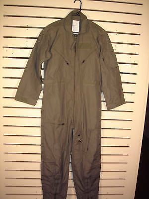 Nomex Flight Suit Flyers Coveralls Sage Green Size 40S CWU-27/P GRADE B