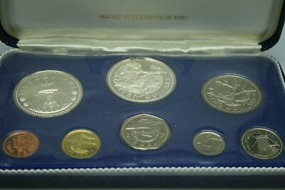 First National Coinage of Barbados 1973 Proof Set from Franklin Mint (NUM1419)