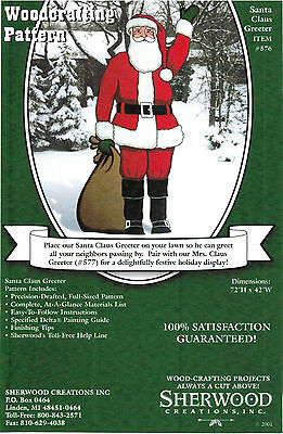 Santa Claus Greeter Christmas Yard Art Woodworking Plans by Sherwood Creations