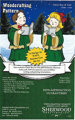 Christmas Carolers Boy & Girl Yard Art Woodworking Plans by Sherwood Creations
