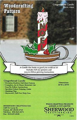 Gingerbread Candle Christmas Yard Art Woodworking Plans by Sherwood Creations