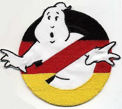 German Flag Style Embroidered ADULT Sized Ghostbusters No Ghost Iron-on Patch