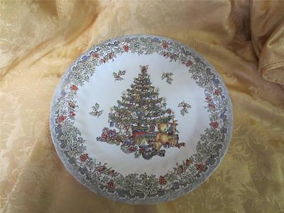 Queen's Myott Season's Greeting 8 inch lunch salad plates COLORS Christmas