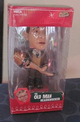 A Christmas Story the Old Man Bobblehead GREAT CONDITION in box headknocker