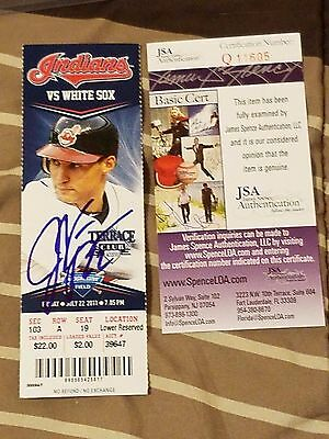 Jason Kipnis Signed Mlb Debut 1St Game Season Baseball Ticket Stub Ga Coa-Rare