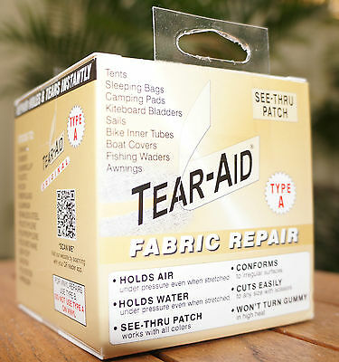 TEAR AID Type A - Repair Roll, Patch, Canvas, Tent, Nylon, Swag, Pack, 5ft Bulk