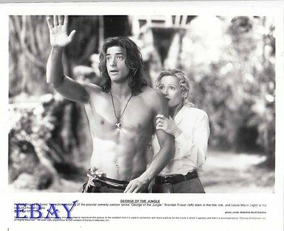BRENDAN FRASER PHOTO GEORGE DE LA JUNGLE LESLIE MANN 11X15 CM  # 3