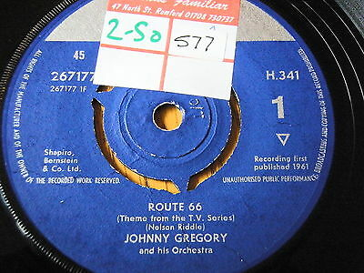 """Johnny Gregory - Route 66   7"""" Vinyl Ps"""