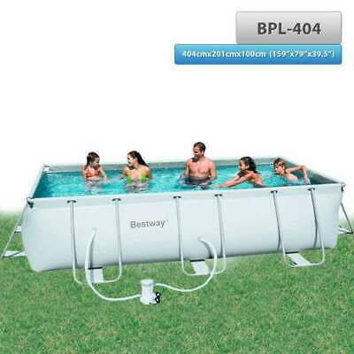 Bestway Above Ground Steel Frame Swimming Pool 4.04m 159''x79''x39.5""