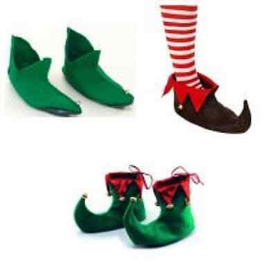 ELf PIXIE SHOES SANTA SHOE COVERS CHRISTMAS FANCY DRESS BOOTS FATHHER CHRISTMAS
