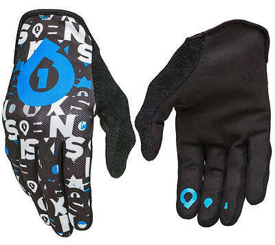 Men's 661 Comp Repeater Mtb Cycle Bike Bmx Gloves Black / Cyan X-Large Xl 11