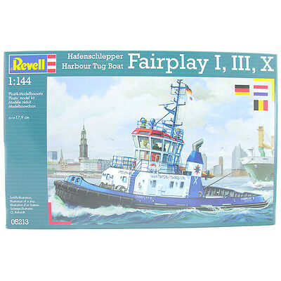 Revell Harbour Tug Boat Fairplay I, III, X (Scale 1:144) Model Kit NEW