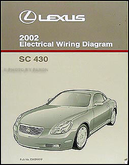 2002 Lexus SC 430 Wiring Diagram Manual Original Electrical Schematic OEM SC430