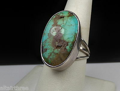 BOLD MODERN STERLING SILVER 925 TURQUOISE BAND RING